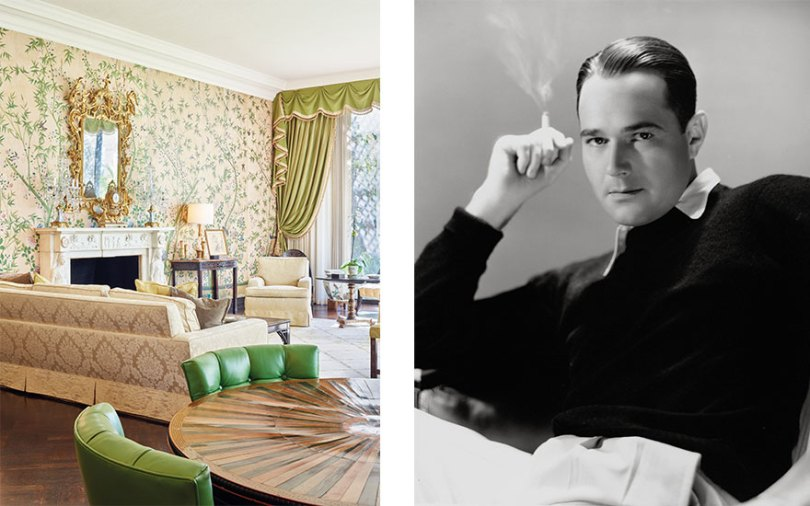 William Haines and the home of Betsy Bloomingdale   Christie s The living room of the Holmby Hills home of Betsy Bloomingdale  Photograph  by Spencer Lowell