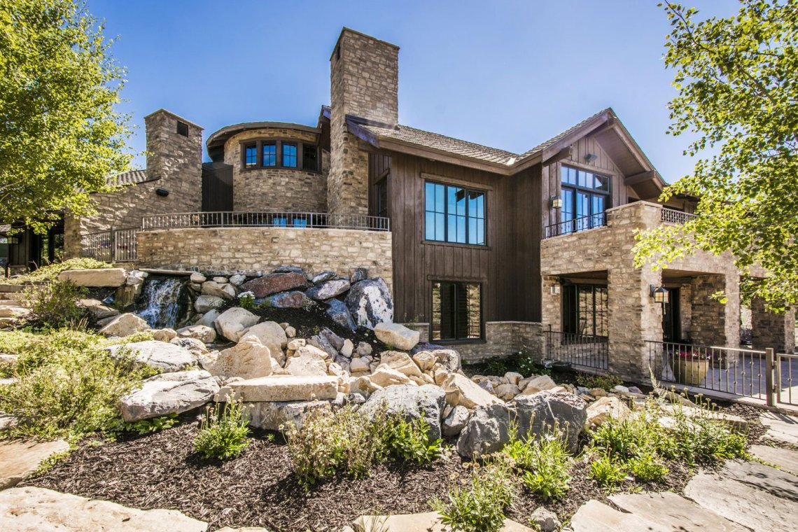 <b>$2,150,512<br/>5 Bedrooms, 5,276 sq. ft.</b><br/>Fantastic gold views surround this expanded Remington Golf Club Cabin. Just a short walk to many of the amenities that Promontory has to offer including the pool, spa, gym, tennis, Pete Dye Club House and the Shed, which includes indoor basketball, bowling and a 50 seat movie theater.