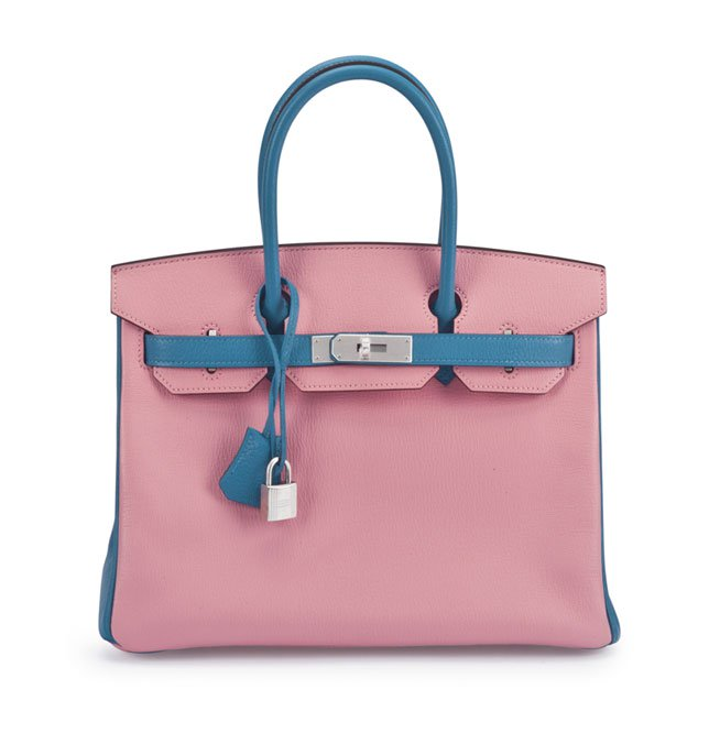 cf3b3fe55d8a A SPECIAL ORDER HORSESHOE 30CM 5P PINK   TURQUOISE CHEVRE LEATHER BIRKIN BAG  WITH BRUSHED PALLADIUM HARDWARE HERMÈS