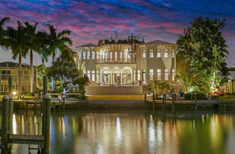 5 Bedrooms, 8,031 sq. ft.Waterfront home with western water and sunset views