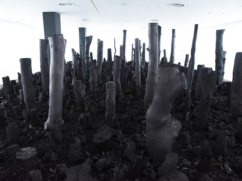 Black Forest 2016, by sculptor Han Sai Por, one of the 63 featured artists in the Singapore Biennale. Image courtesy of Singapore Art Museum. Banner image: Ruby Slippers by Liliane Blom
