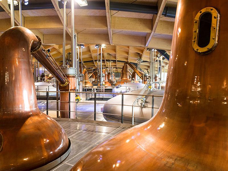 Copper still at The Macallan distillery