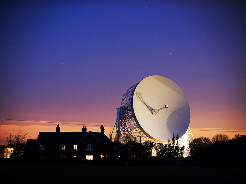 Jodrell Bank Radio Telescope, Cheshire, UK