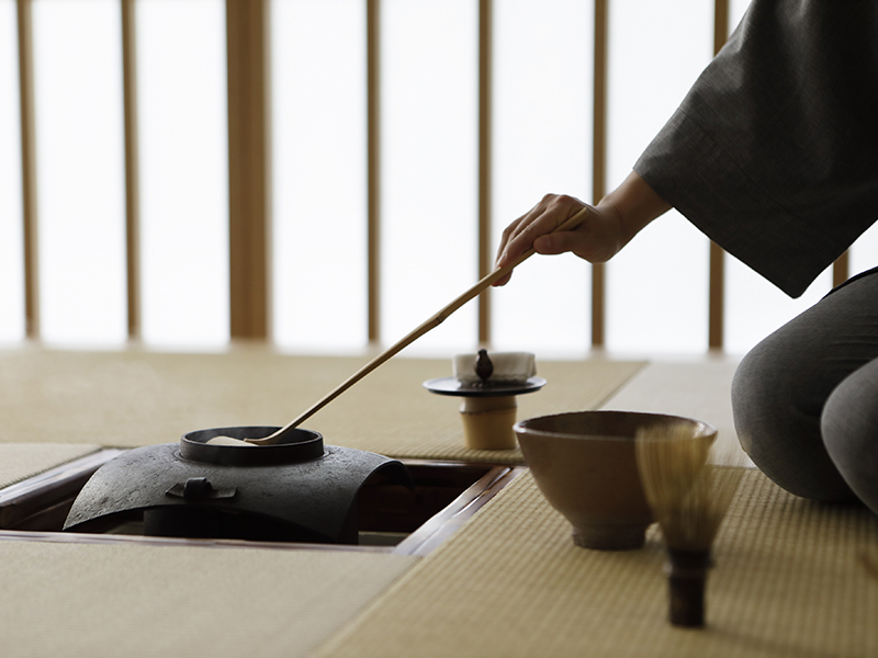 Japanese tea ceremony at Hoshinoya Tokyo