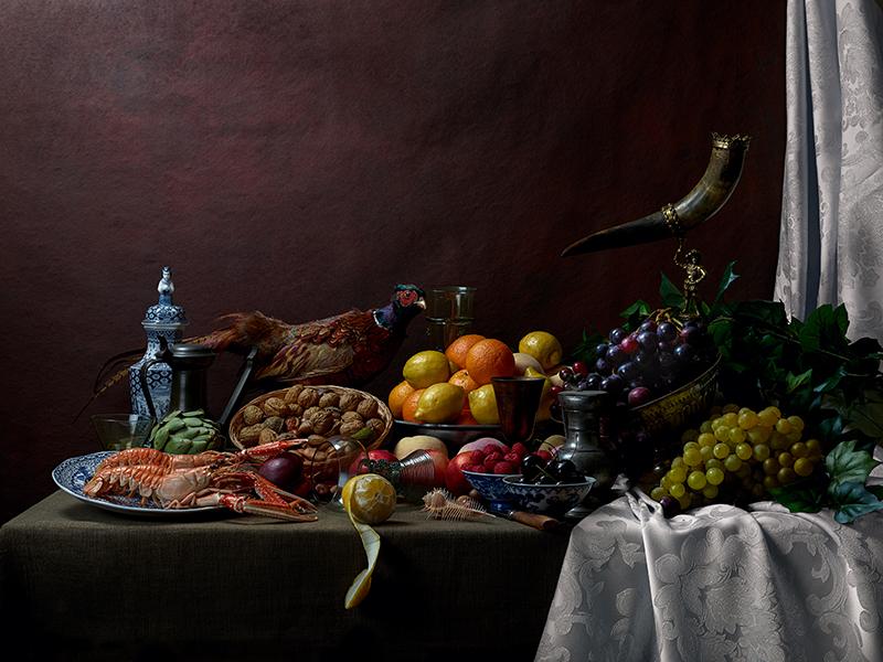 Pronkstilllife with Pheasant by Jeroen Luijt