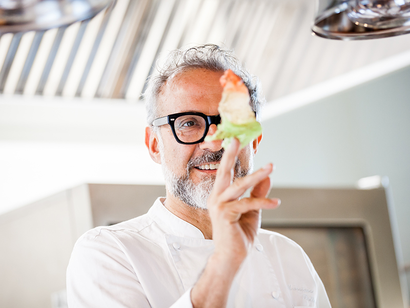 Michelin-starred chef Massimo Bottura