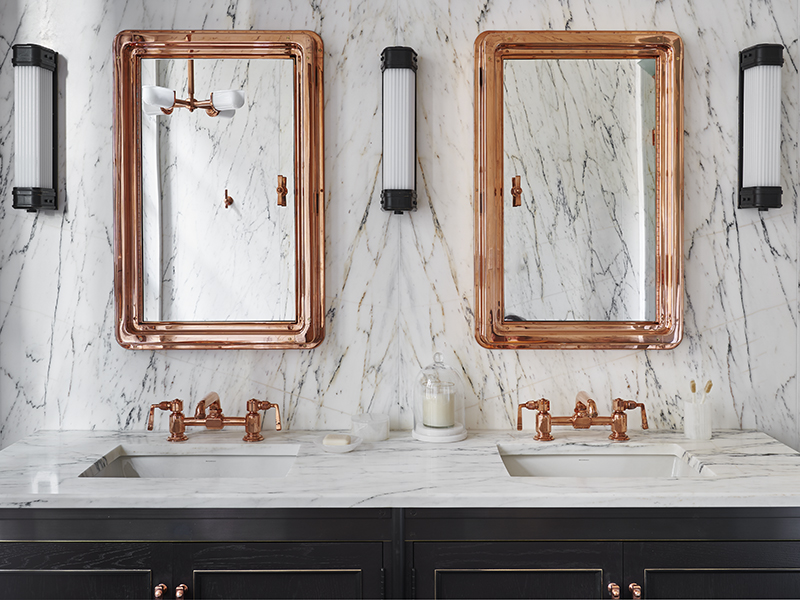 The Fitzroy penthouse's master vanity