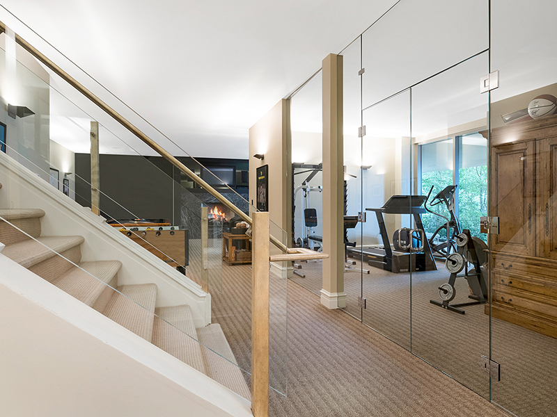 A Home Gym on the Lower Level of a house