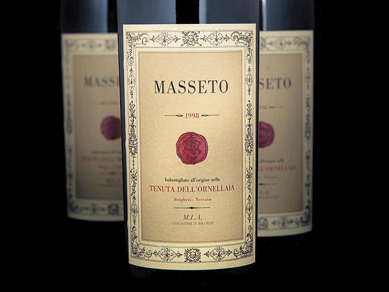 Bottles of Masseto wine