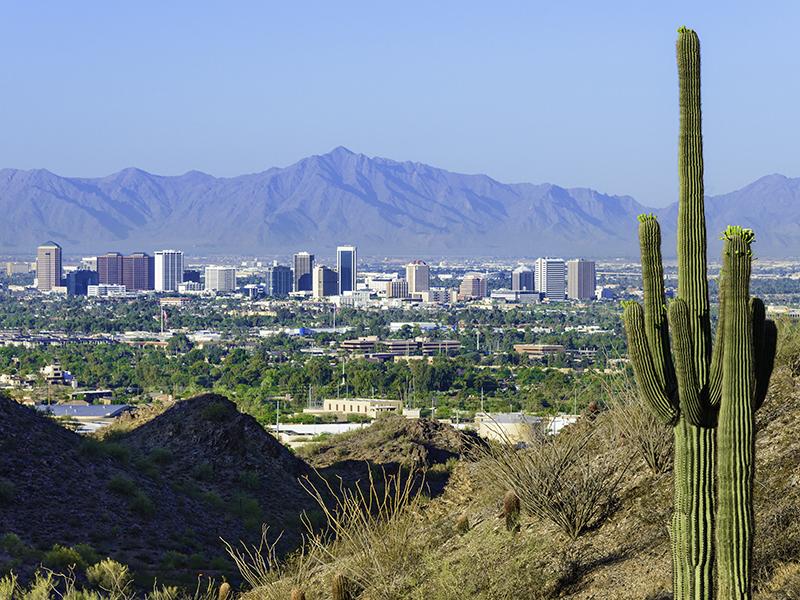 Phoneix Arizona sen from afar