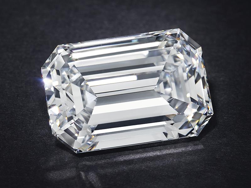 The D Color Diamond sold at Christie's online auction