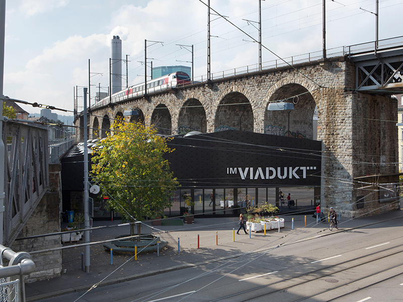 A redeveloped railway viaduct in Zurich, an outstanding example of adaptive reuse