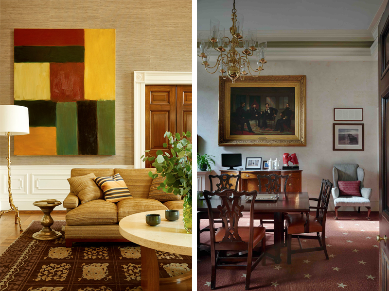 White House family sitting room and private dining room