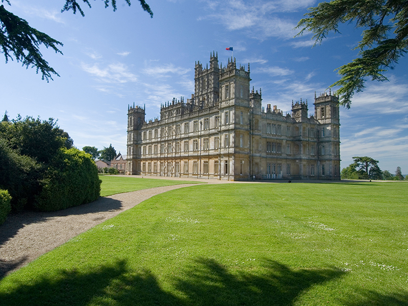 Highclere Castle, the majestic set of Downton Abbey, was originally built as an aristocratic country house in 1679 and was renovated nearly 200 years later by Victorian architect Sir Charles Barry. Image: Alamy