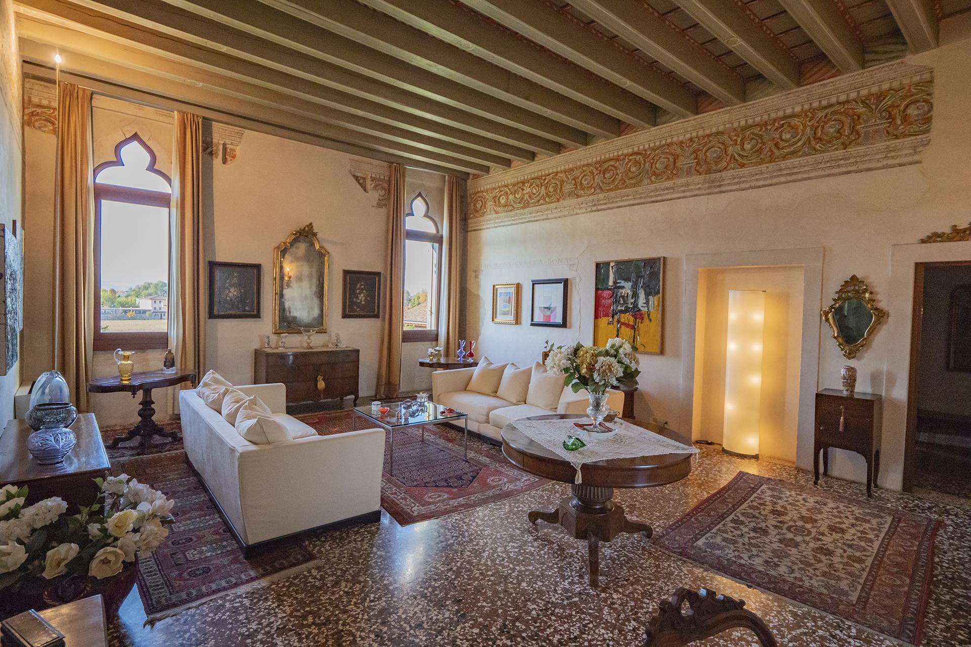 A grand living room in a villa