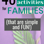 40 Lent activities for families that are both simple and fun, while still creating a meaningful Lent for your family. | 40 Days of Lent activities | Holy week activities for families | Free Lent printables #Lent #Christianparenting