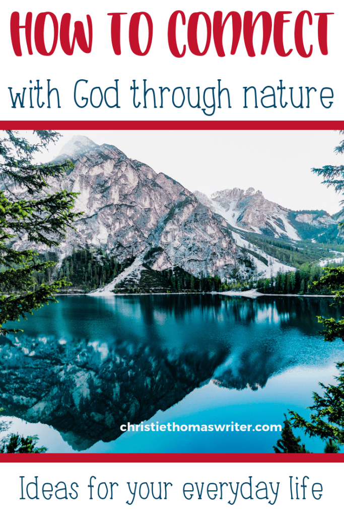 Finding God through nature is a beautiful way to connect with God because all creation testifies to the glory of God. Includes a section on what we can learn about God from creation. #Sacredpathways #Bible #Jesus