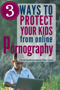 Every Christian parent needs these 3 great ideas to help combat the horrors our kids can stumble into on the internet. #internetsafety #Christianmom #familygoals #Bible