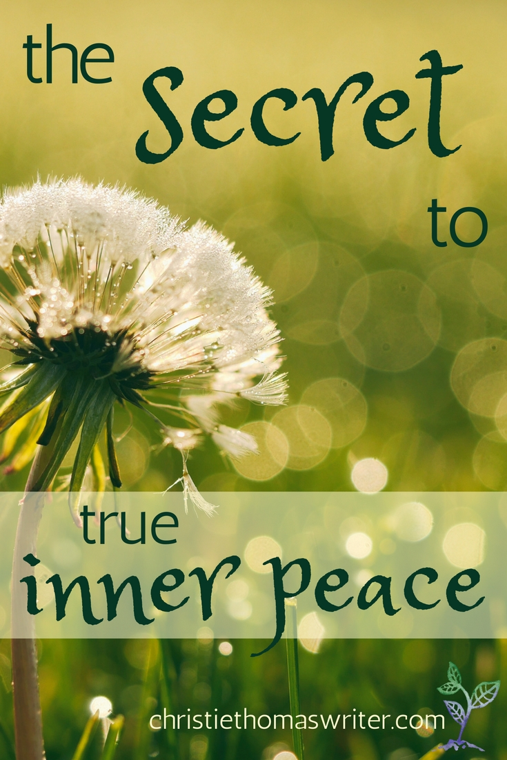 When you're running on fumes, there is hope: the secret to true inner peace.