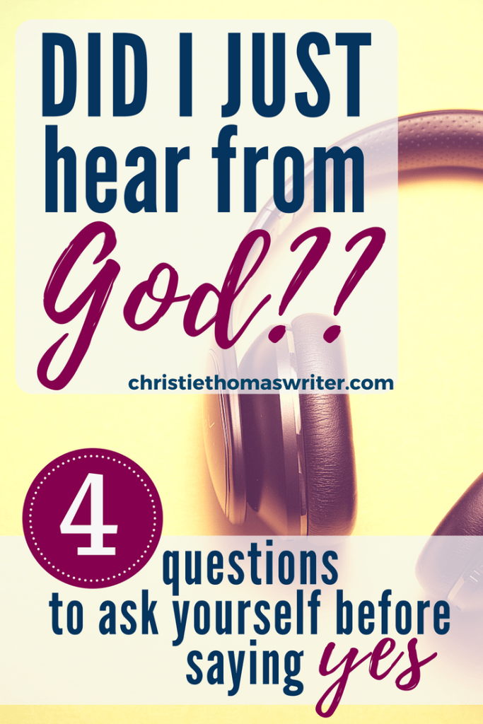 An infinite God can choose to speak however he wants. The question is, do we notice when he's talking? #Bible #prayer #Jesus #Christianmom #familyfaith #Christianity