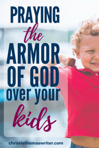 A printable prayer journal to pray the armor of God over your kids. Includes a poster, 6 specific prayers, and 31 days of prayers and Scripture study through the book of Ephesians. #armorofGod #Biblestudy #prayer #Christianmom #familydiscipleship