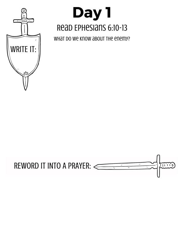 Pray the armor of God over my kids
