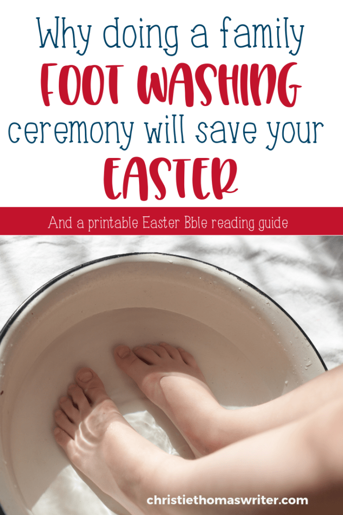 """On doing a Biblical foot washing ceremony with your kids.   Washing feet on Maundy Thursday.   Washing feet like Jesus   A """"Jesus Storybook Bible"""" Easter Reading Plan   Printable Easter reading plan for kids and families. #Easter #Christianparenting"""