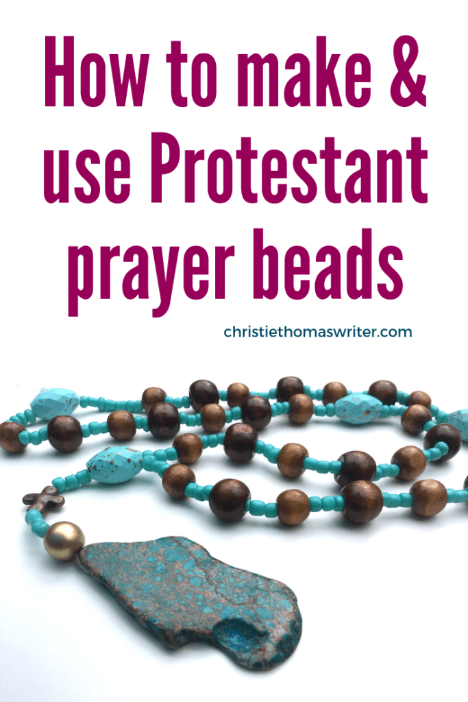 Discover the rich history of Protestant prayer beads and how they can help your prayer life (as they did mine). Includes directions for making prayer beads of your own as well as prayer bead prayers. #prayer #Bible #Christianparenting