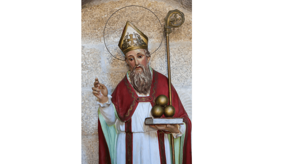 St. Nicholas, an ascetic monk and bishop