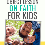 An object lesson on faith that your kids will love. Also includes a book suggestion to take the lesson deeper and help kids truly trust their loving Father.   Fully rely on God object lesson   Children's sermon on trusting God   Fully rely on God object lesson for kids #kidmin #Christianparenting #objectlesson
