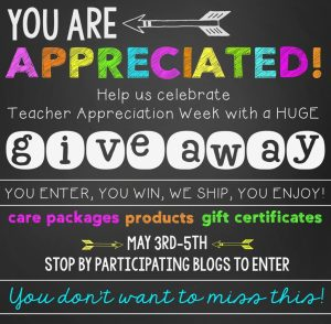 Teacher Appreciation Giveaway Hop