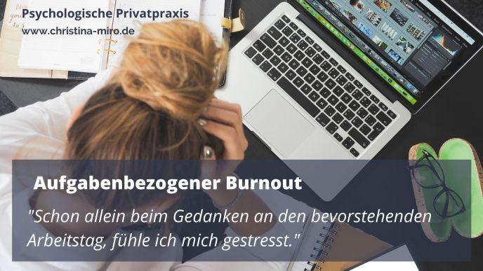 Aufgabenbezogener Burnout - Psychologische Online Beratung