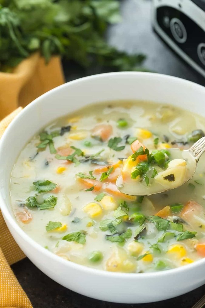 Slow Cooker Dill Vegetable Soup