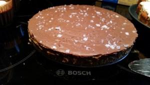 Choklad och kola tårta