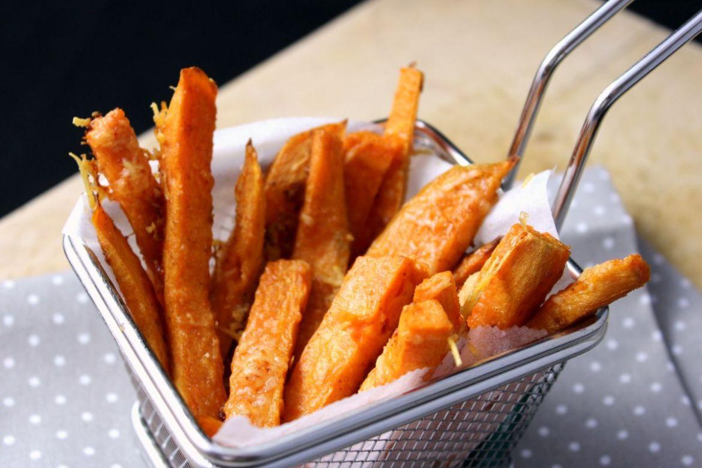 Knusprige Süßkartoffelpommes