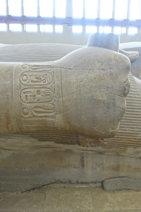 The hieroglyphs indicate that this is a statue of Ramses II.