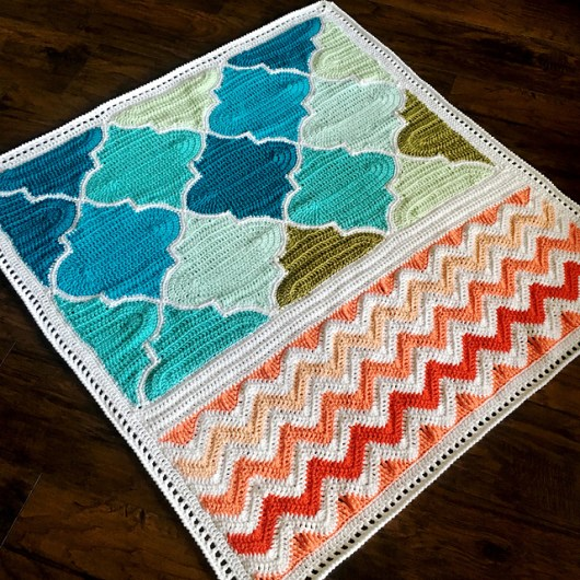 Trellis and Chevron by BabyLove Brand