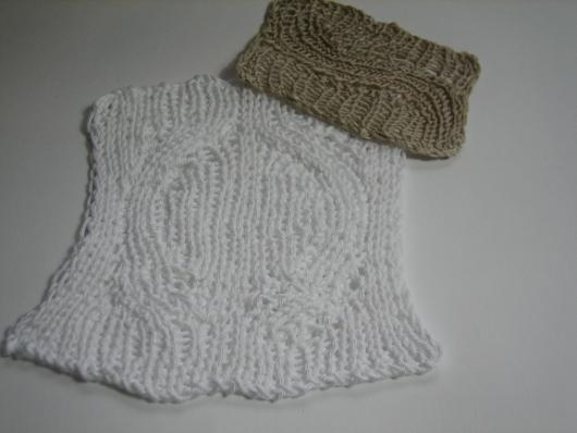 linen and cotton short row slides together