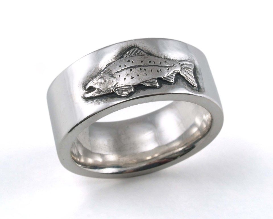 Sterling Trout Ring
