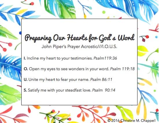 praye card