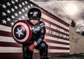 Composite of Captain America on Richland Avenue in Aiken