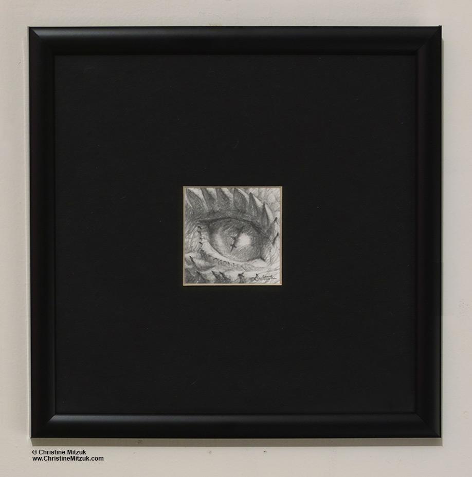 Pencil Drawing Dragon Eye