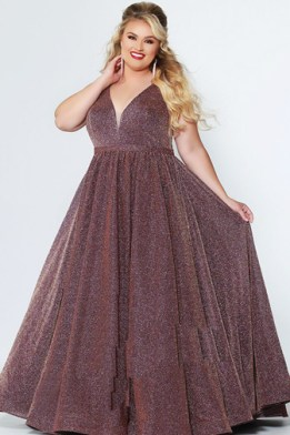 Glittery-plus-size-formal-gown