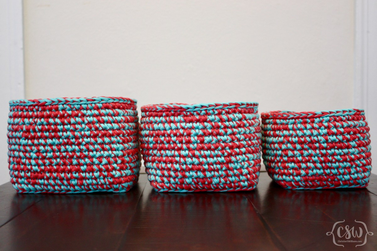 Multicolored Stacking Baskets