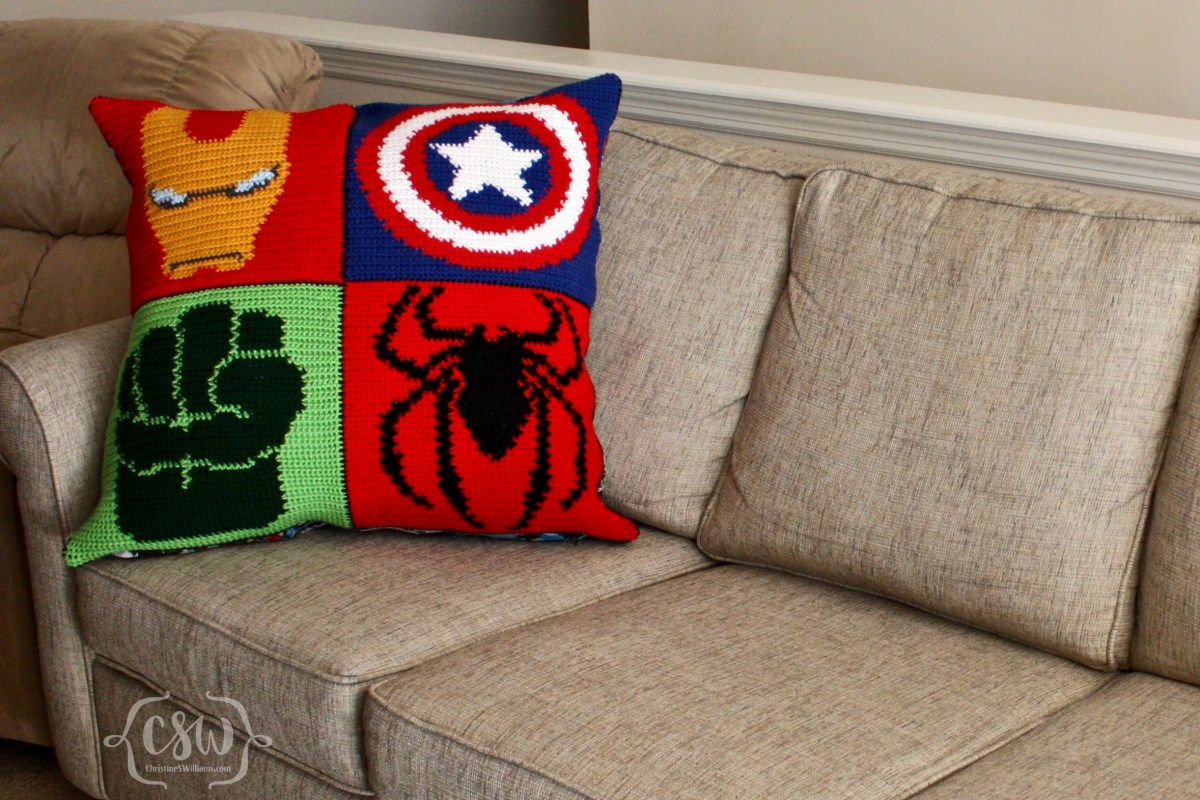 Marvel Superhero Pillow