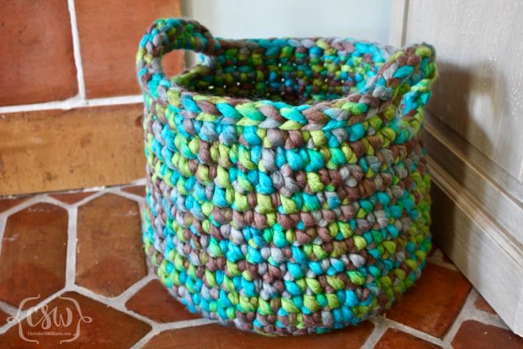 Chunky Floor Basket - Colorful Christine