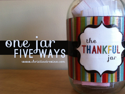 Five ideas to use The Thankful Jar this November, and all year long.