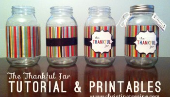 DIY Give, Live, Save Mason Jar Banks | Christine Trevino