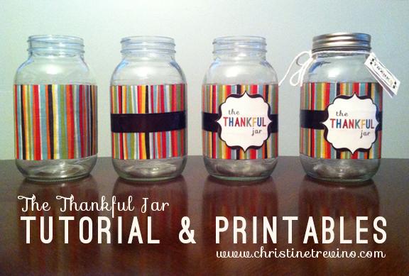 The Thankful Jar | Tutorial & Printables