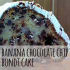 Banana Chocolate Chip Bundt Cake with Cream Cheese Frosting